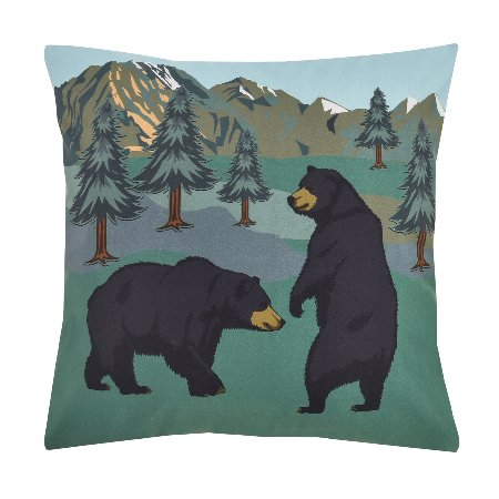 Bear Encounter Accent Pillow
